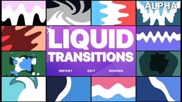 Thumbnail for Liquid Transitions | Motion Graphics Pack
