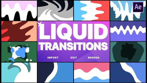 Thumbnail for Liquid Transitions | After Effects