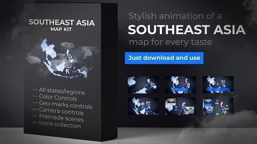 Southeast Asia Animated Map - Southeastern Asia Map Kit