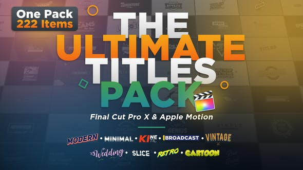 Thumbnail for The Ultimate Titles Pack - Final Cut Pro X & Apple Motion