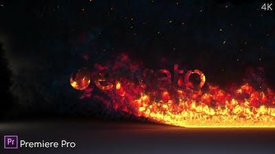 Fire Burning Logo Reveal - Premiere Pro