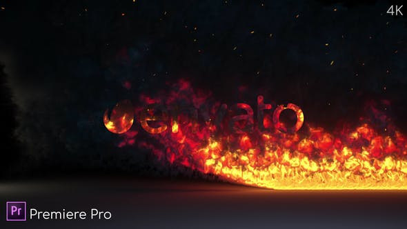 Fire Burning Logo Reveal - Premiere Pro