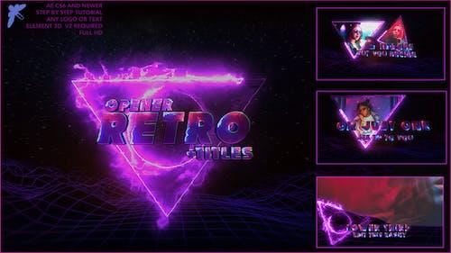 80s Retro Titles 3D