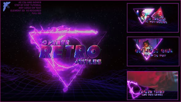 Thumbnail for 80s Retro Titles 3D