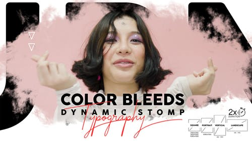 Color Bleeds Dynamic Stomp Typography