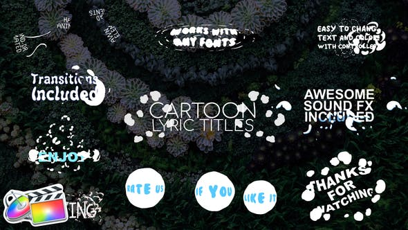2D Cartoon Lyric Titles | FCPX