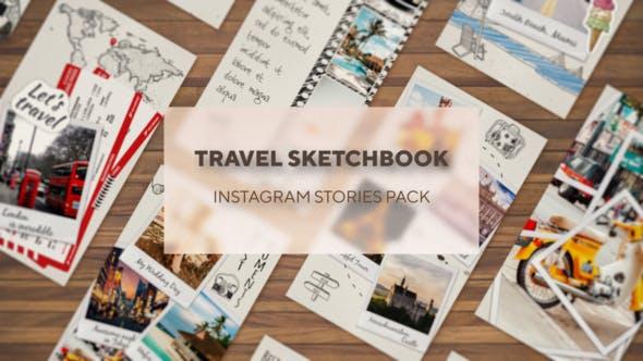 Thumbnail for Carnet de croquis du voyageur - Pack Histoires Instagram
