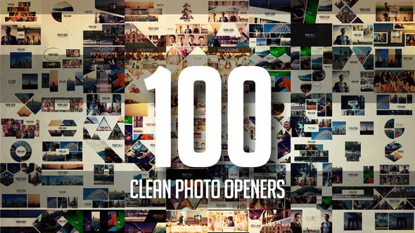 Thumbnail for 100 Clean Photo Openers - Logo Reveal Pack