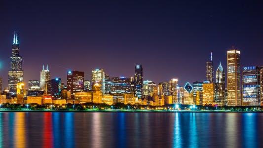 Thumbnail for Chicago Night Skyline