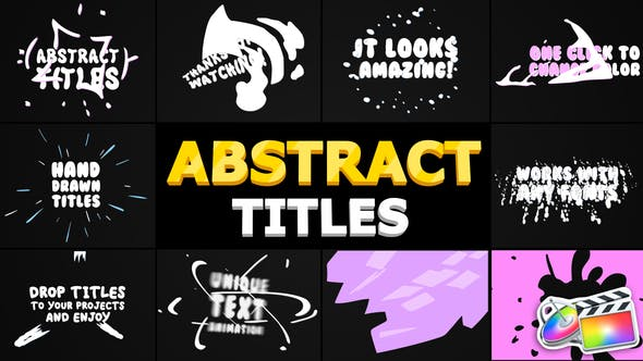 Thumbnail for Abstract Cartoon Titles | FCPX