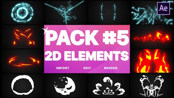Thumbnail for Elements Pack 05 | After Effects