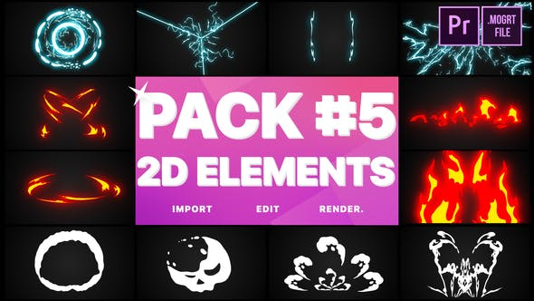 Thumbnail for Elements Pack 05 | Premiere Pro MOGRT