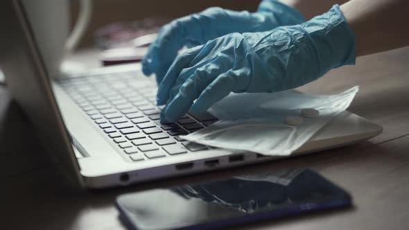 Arbeit zu Hause während einer Epidemie