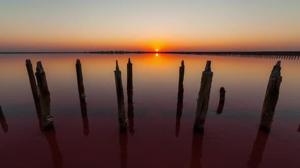 Thumbnail for Dawn on a Pink Salt Lake, Ukraine. Timelapse.