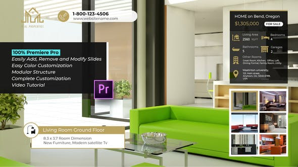 Simple Clean Real Estate Slideshow – Premiere Pro