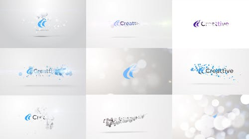 Quick Logo Sting Pack 06: Clean Particles