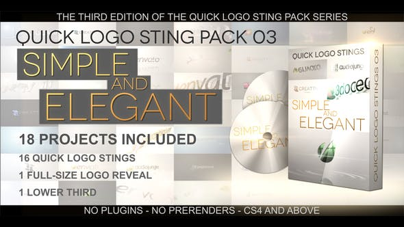 Thumbnail for Quick Logo Sting Pack 03: Simple & Elegant