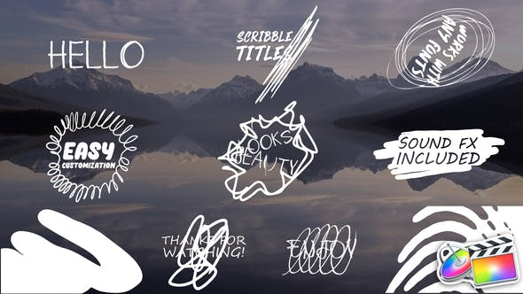 Thumbnail for Cartoon Scribble Titles | FCPX