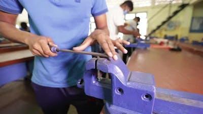Indian Asian Hand Filing Metal