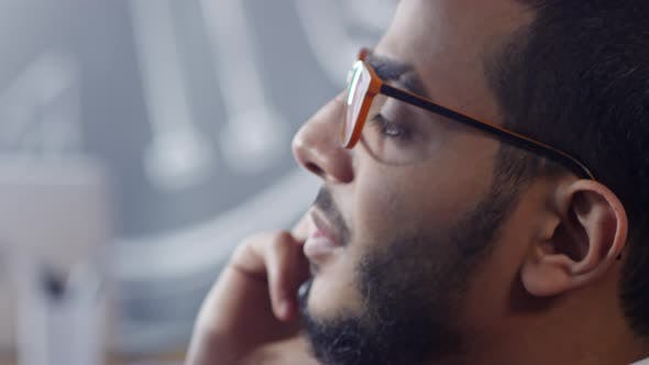 Thumbnail for Close Up of Arab Man Talking on Mobile Phone