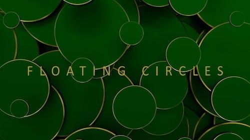 Golden Green Circles