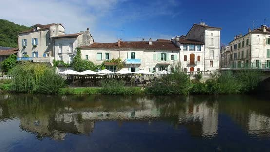 Thumbnail for Benedictine Abbey of Brantome and river and surrounding