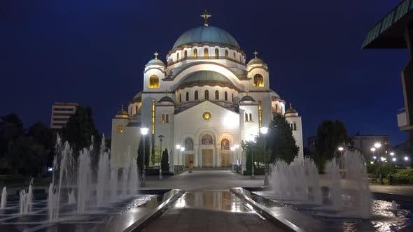 Thumbnail for Cathedral of Saint Sava at Night, Belgrade, Serbia
