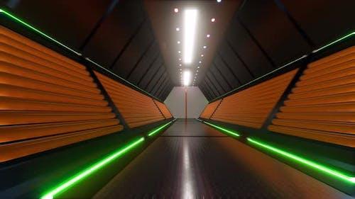 Futuristic Tunnel Digital Technology Led Light
