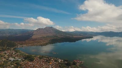 Lake and Volcano Batur