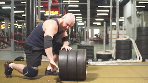 Brutal Powerlifter with Barbell