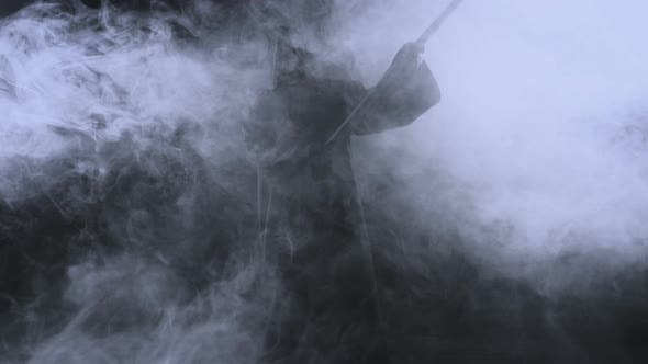 Cover Image for Horrible Dark Figure In A Hoodie With A Scythe