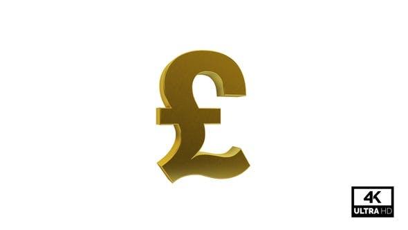 Gold GBP Pound Symbol Seamless Rotate