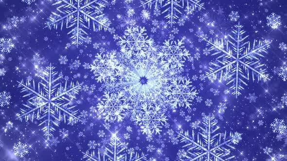 Snowflakes Seamless Blue Bg