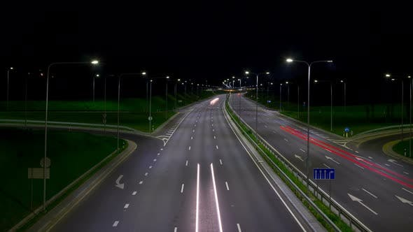 Thumbnail for Highway at night
