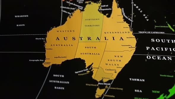 Cover Image for The Eponymous Mainland Australia On A World Map
