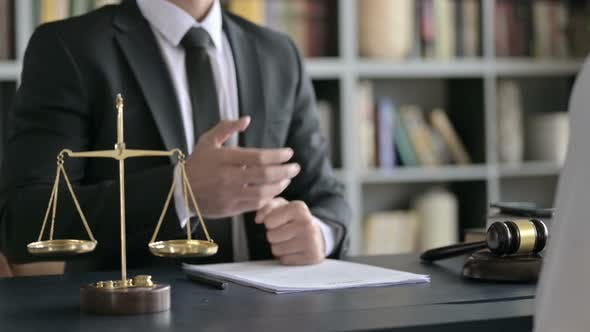 Thumbnail for Close Up Shoot of Lawyer Hand Shaking with Other Person on Table