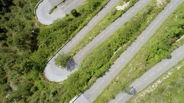 Thumbnail for Winding and Steep Mountain Road Aerial