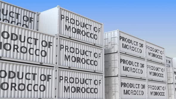 Thumbnail for Containers with PRODUCT OF MOROCCO Text