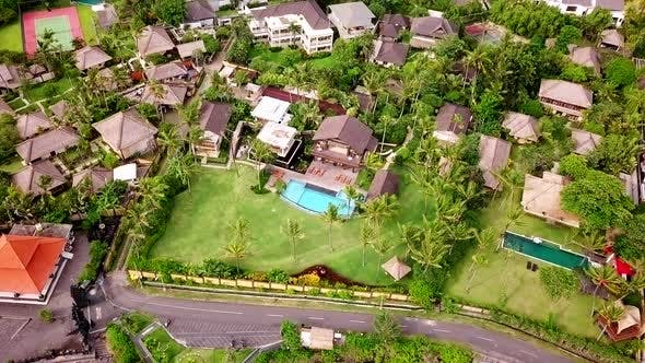 Thumbnail for Aerial Shot of Villas on Coast of Bali