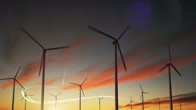 Wind Turbine Generator Wind Energy Plant Power Turbine