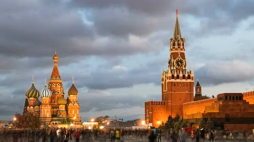 Night Hyperlapse of Red Square, Moscow