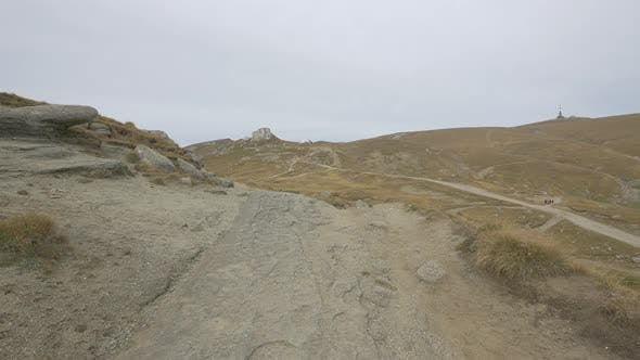 Rocky paths on Bucegi Plateau