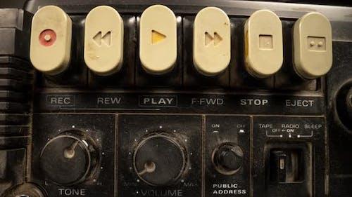 Retro Ghettoblaster Stereo Radio Macro