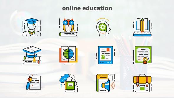 Online Education - Flat Animated Icons
