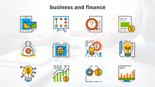 Thumbnail for Business and Finance - Flat Animated Icons