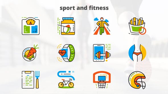Sport and Fitness - Flat Animated Icons