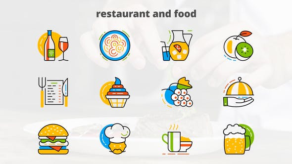 Thumbnail for Restaurant And Food - Flat Animated Icons