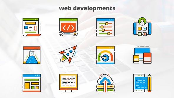 Thumbnail for Web Development - Flat Animated Icons