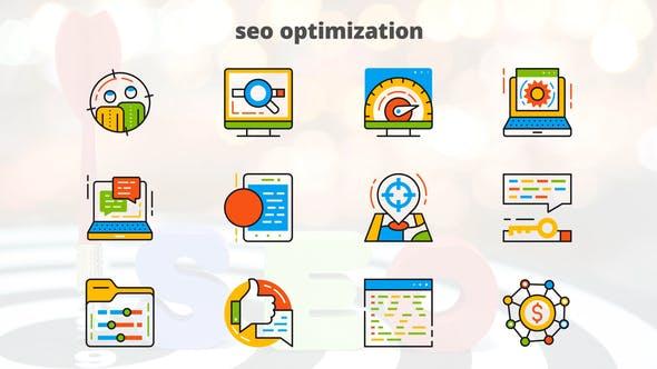 Thumbnail for SEO Optimization - Flat Animated Icons