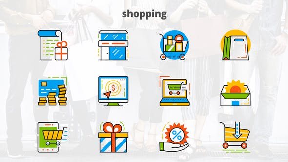 Thumbnail for Shopping - Flat Animated Icons